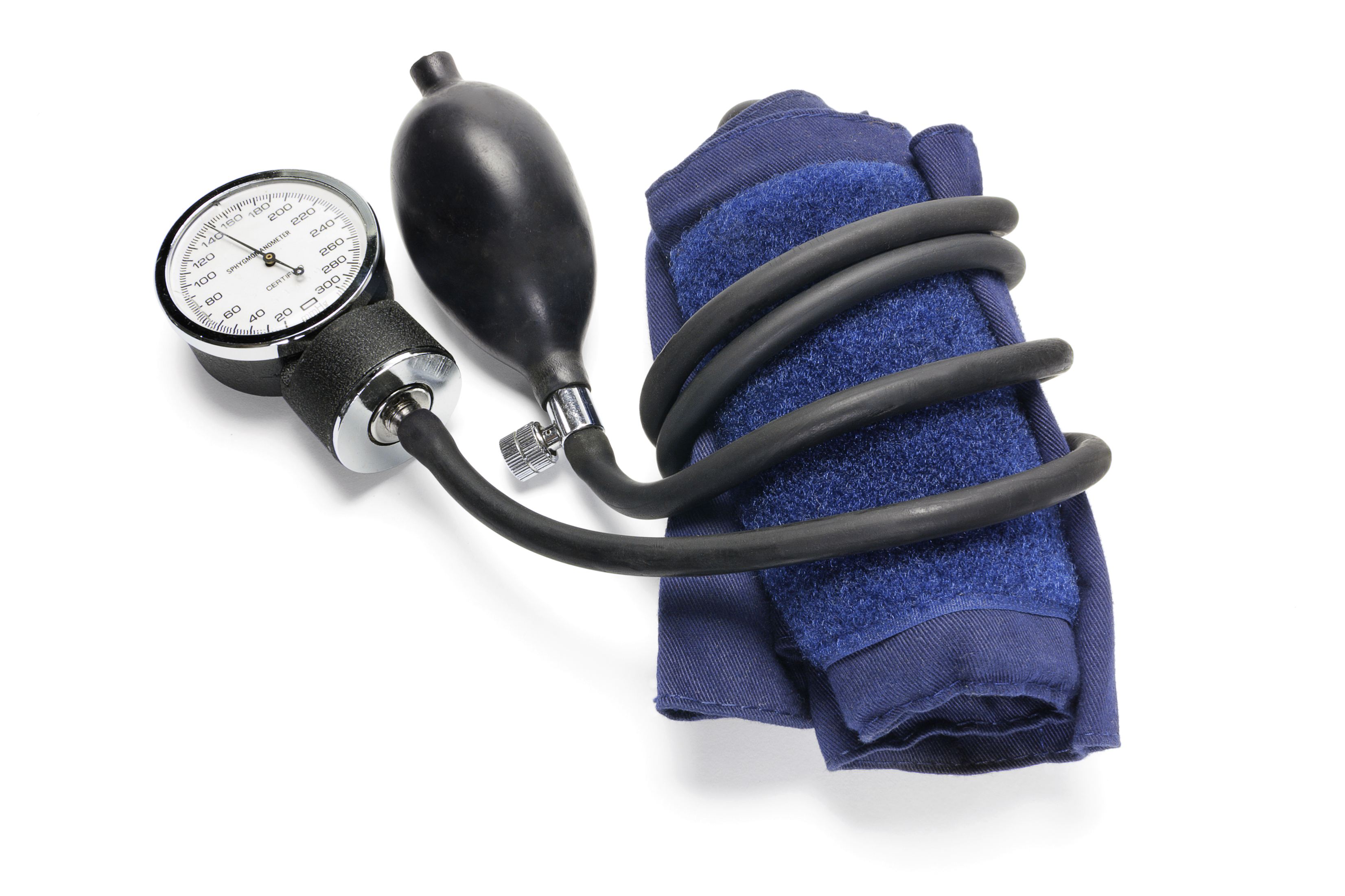 Sphygmomanometer on White Background