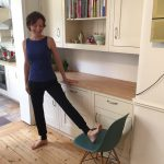 10-Minute Kitchen Yoga: Stretching the Legs